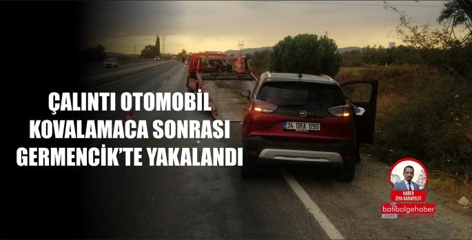 ÇALINTI OTOMOBİL KOVALAMACA SONUCU YAKALANDI